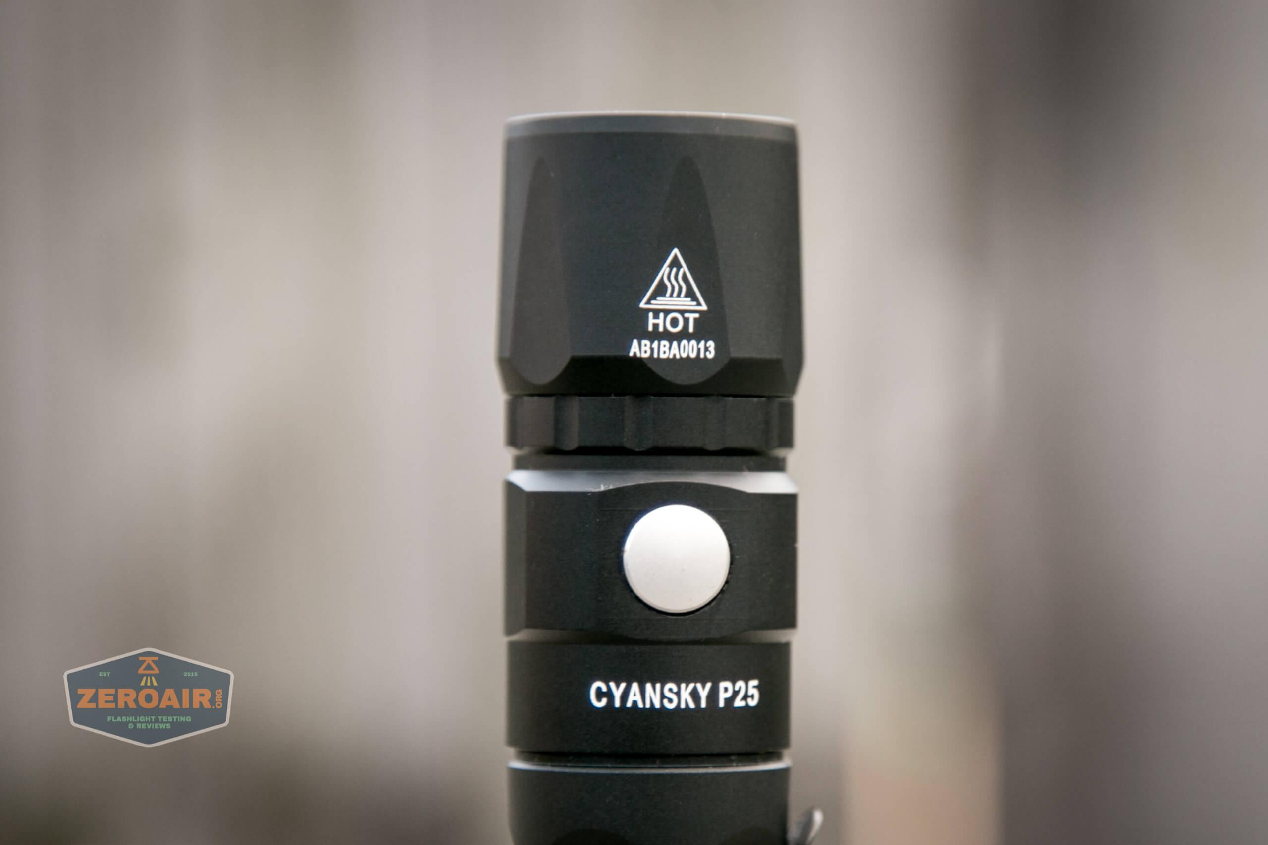 Cyansky P25 Flashlight e-switch
