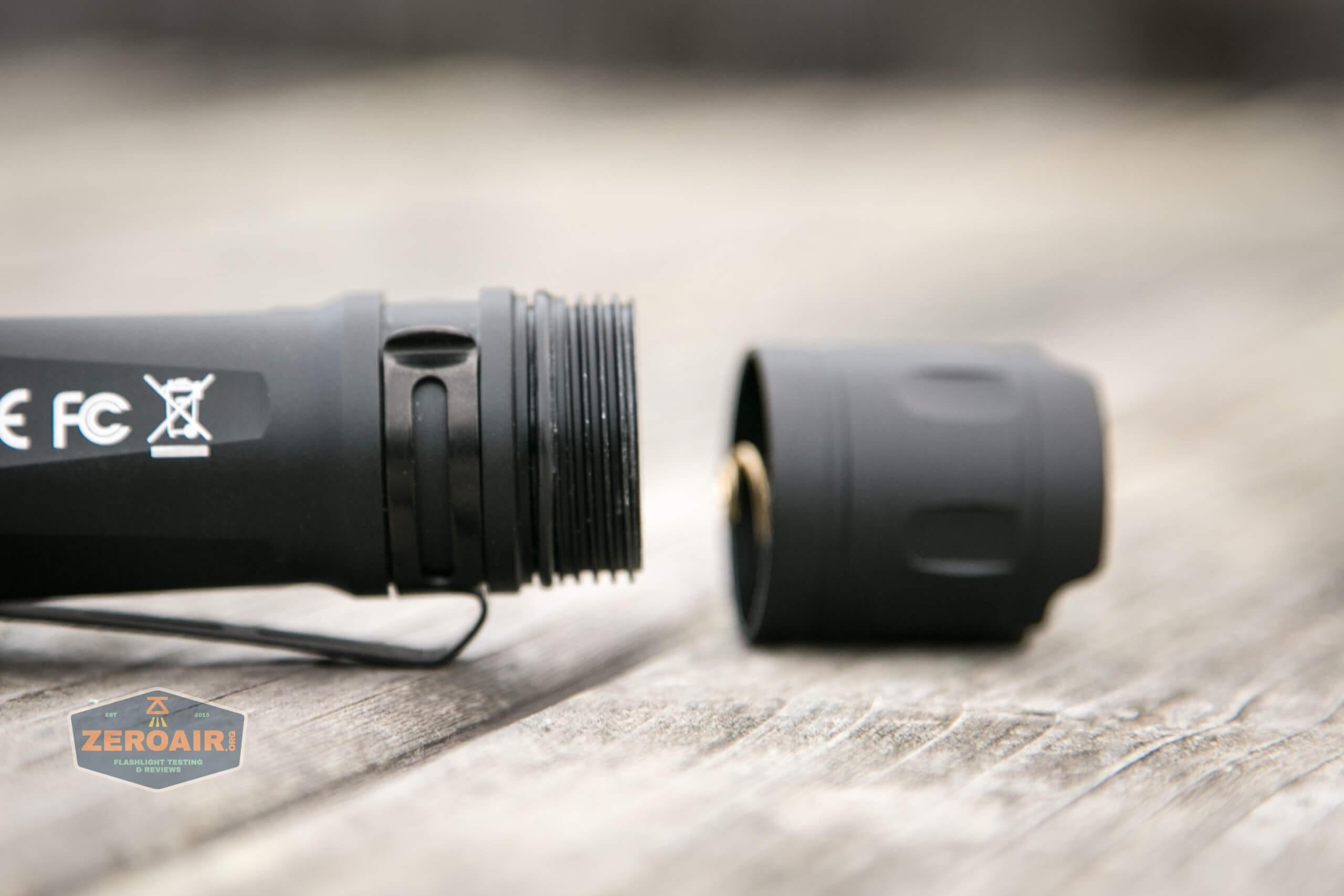 Cyansky P25 Flashlight body threads