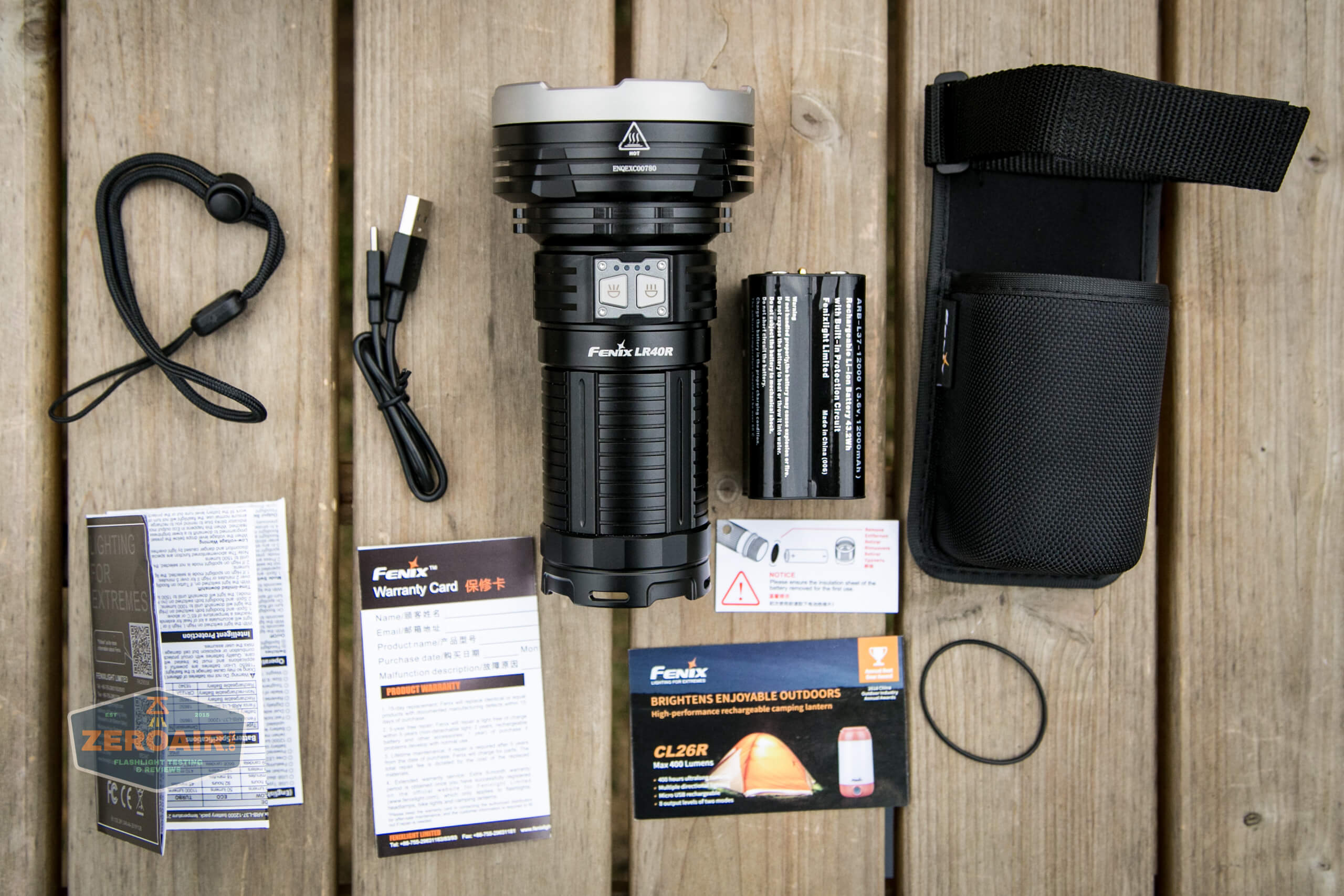 fenix lr40r what's included