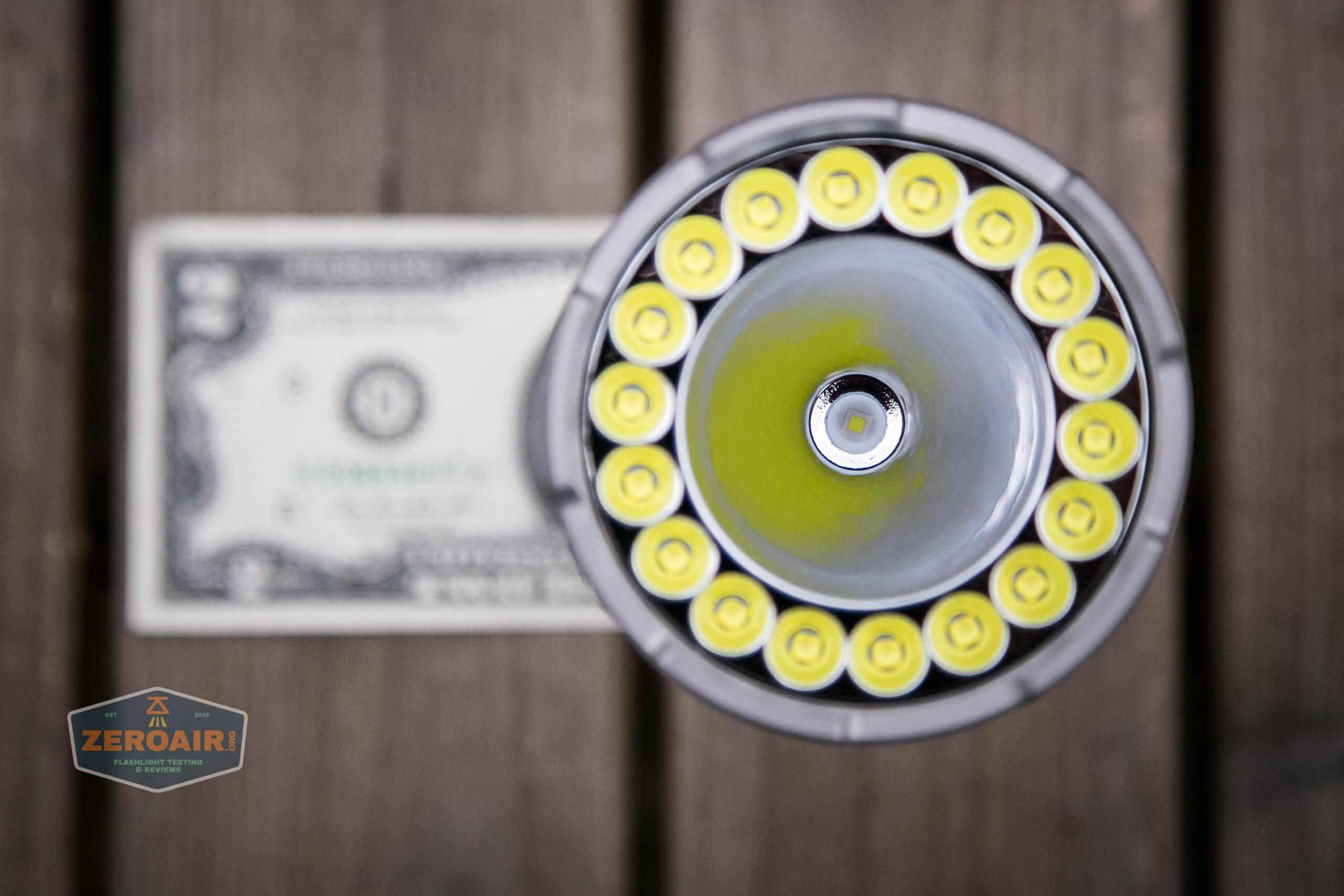 fenix lr40r on two dollar bill
