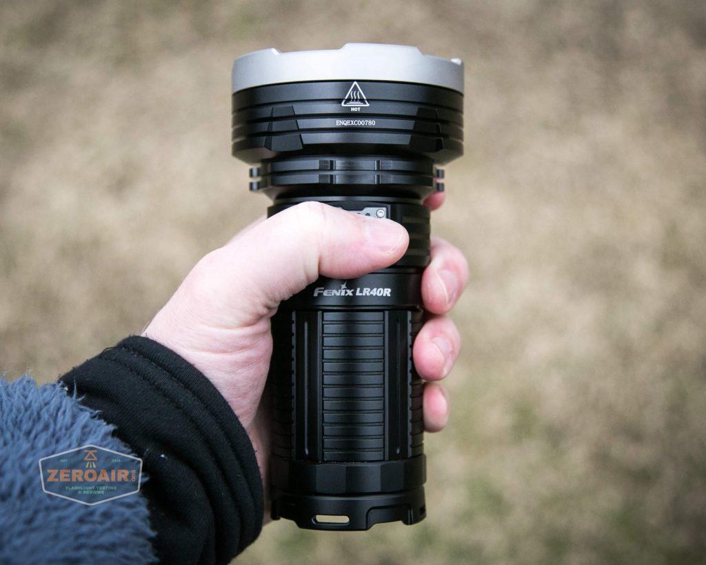 fenix lr40r in hand