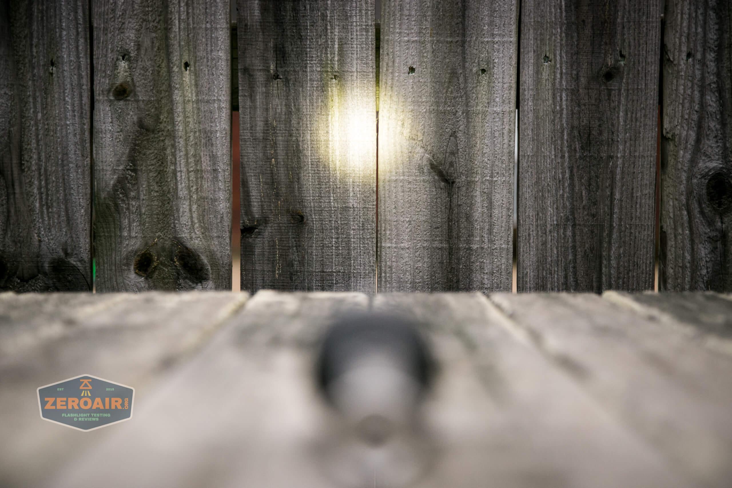 Manker MC13 thrower flashlight emitter beamshot fence