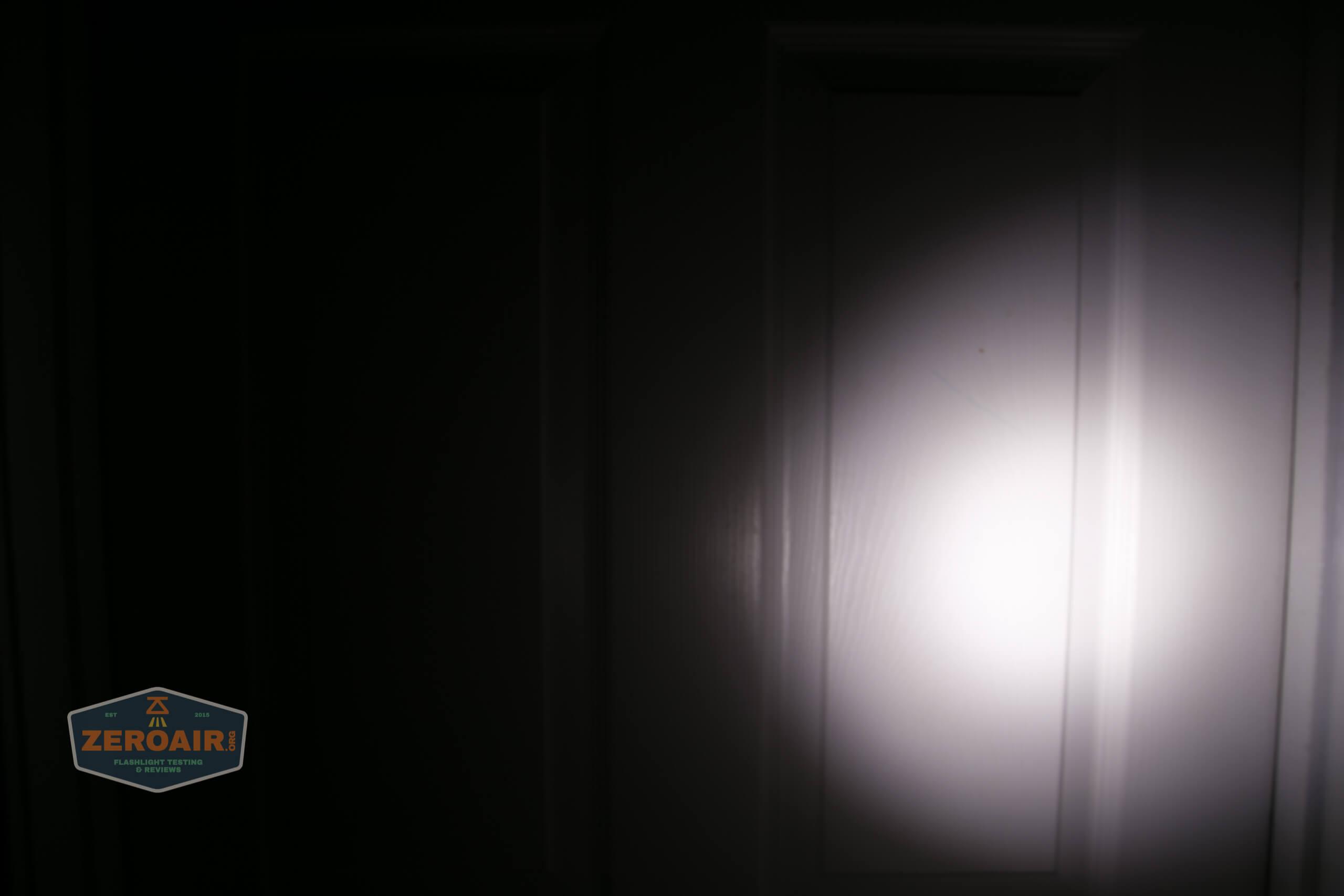 Manker MC13 thrower flashlight beamshot door 1