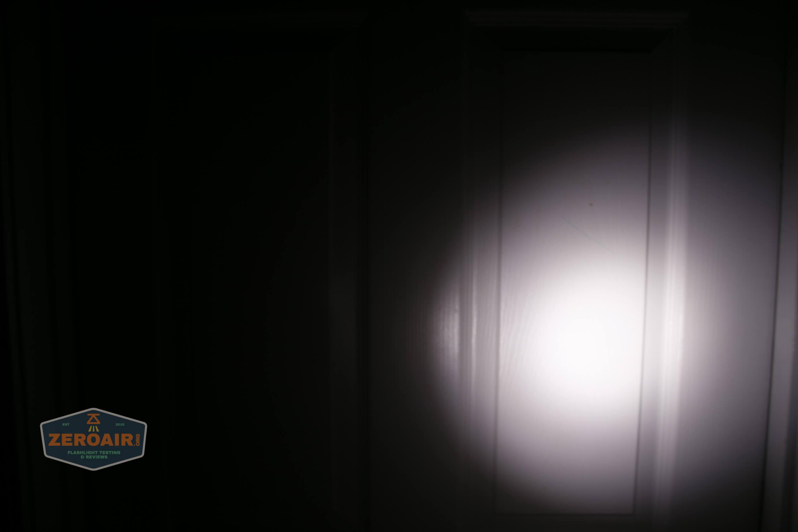Manker MC13 thrower flashlight beamshot door 3