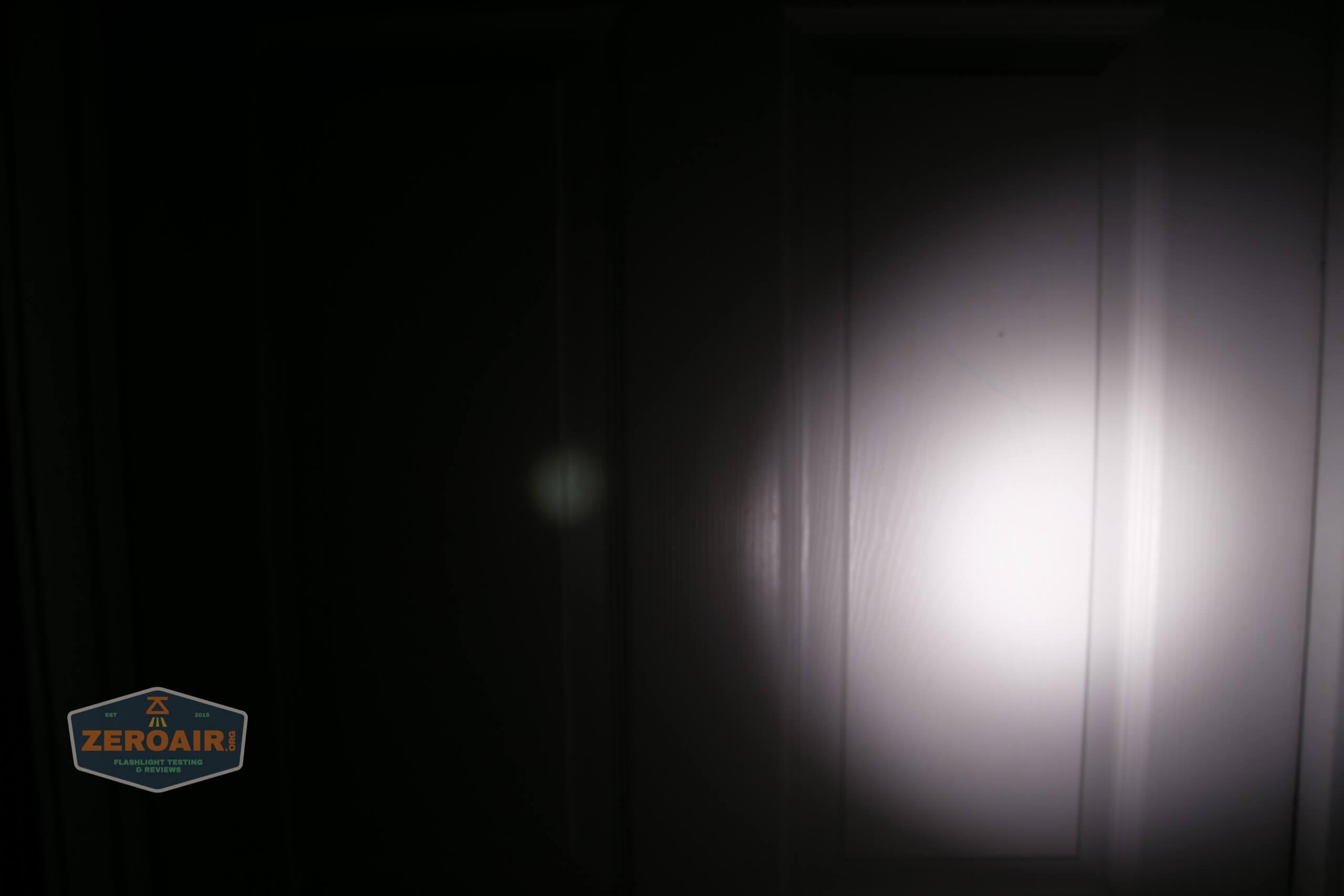 Manker MC13 thrower flashlight beamshot door 5
