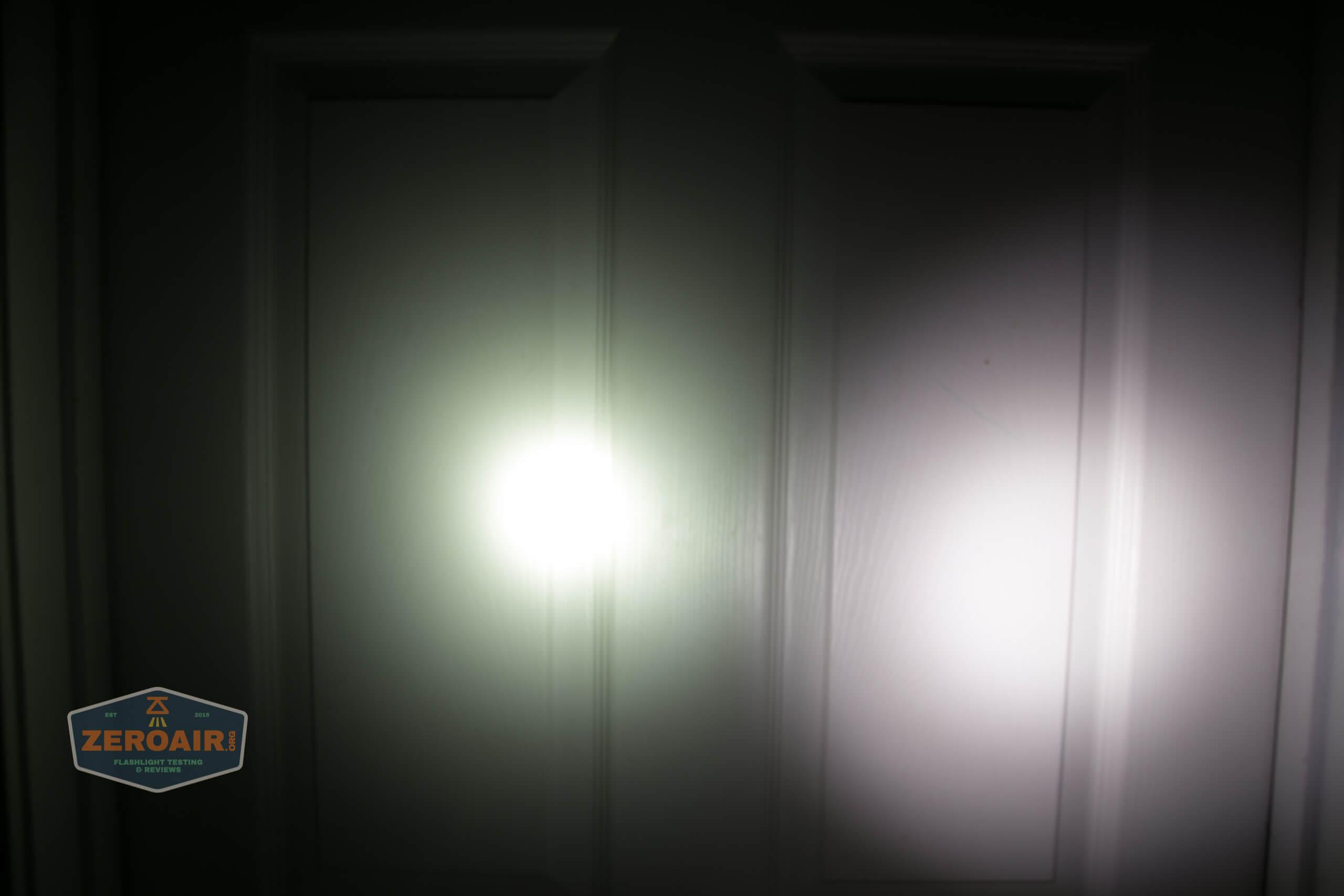 Manker MC13 thrower flashlight beamshot door 6