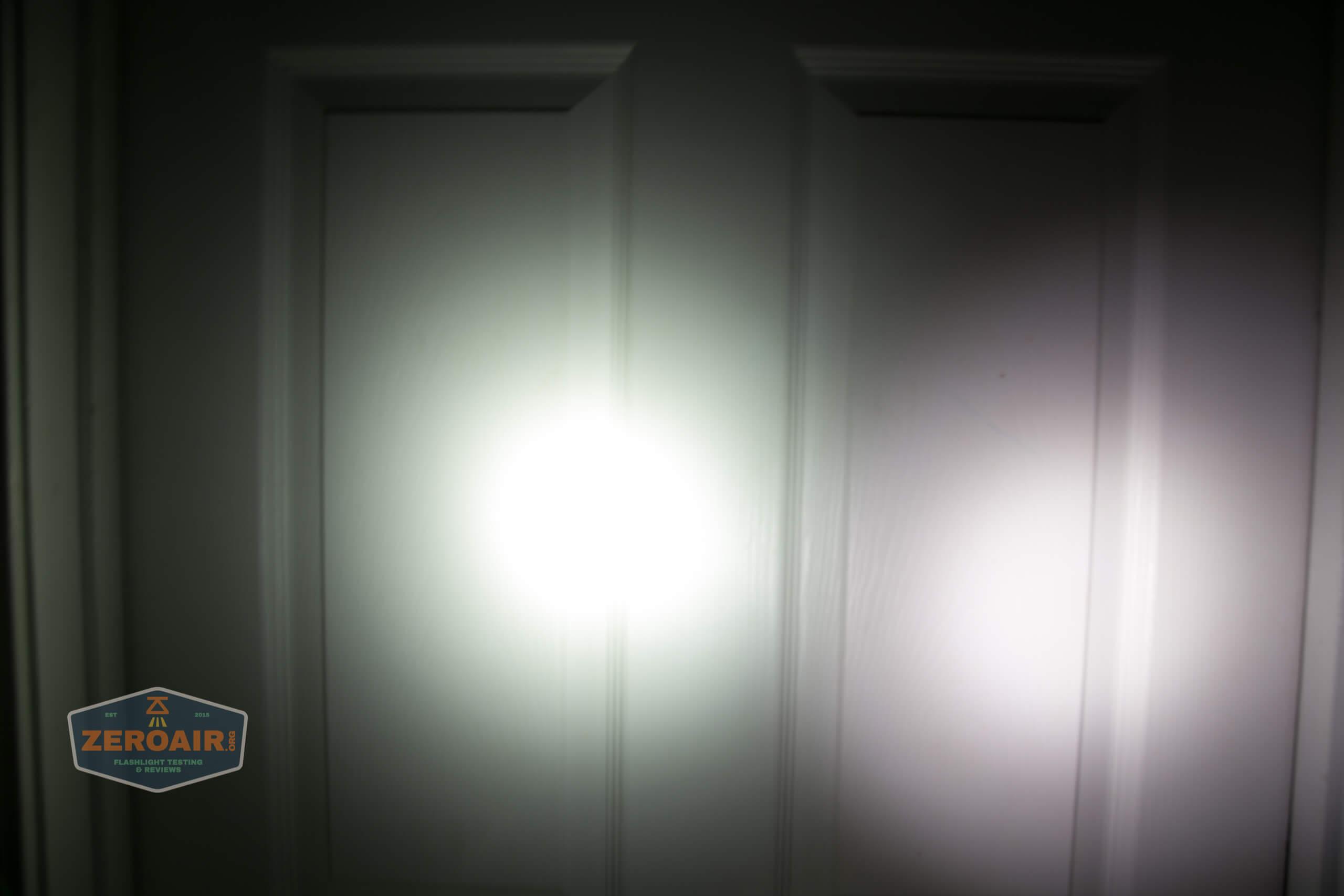 Manker MC13 thrower flashlight beamshot door 7