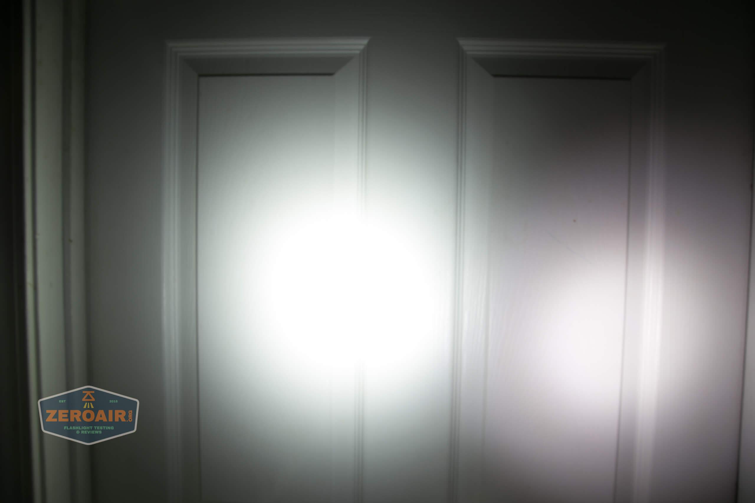 Manker MC13 thrower flashlight beamshot door 8