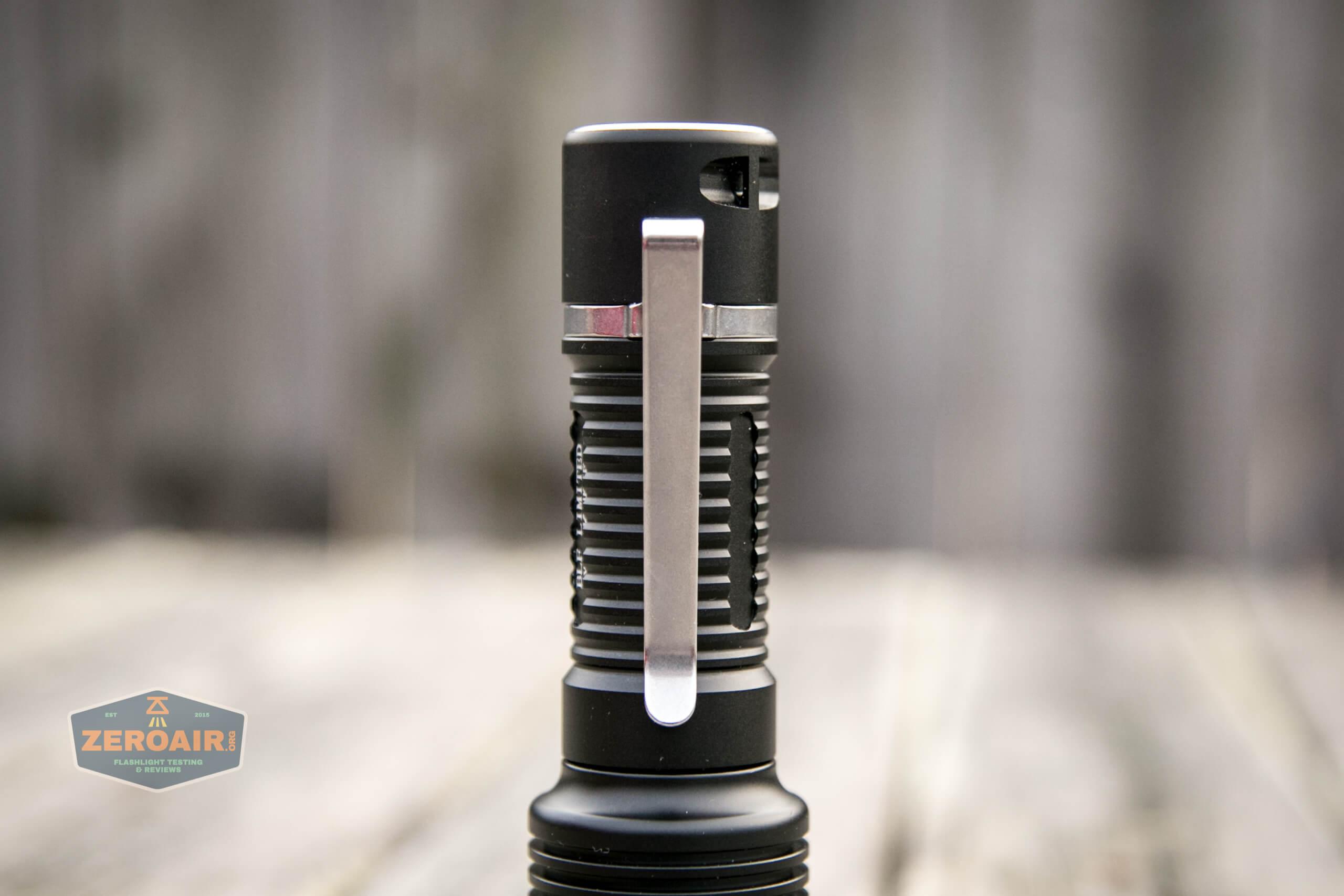 Manker MC13 thrower flashlight 18650 pocket clip