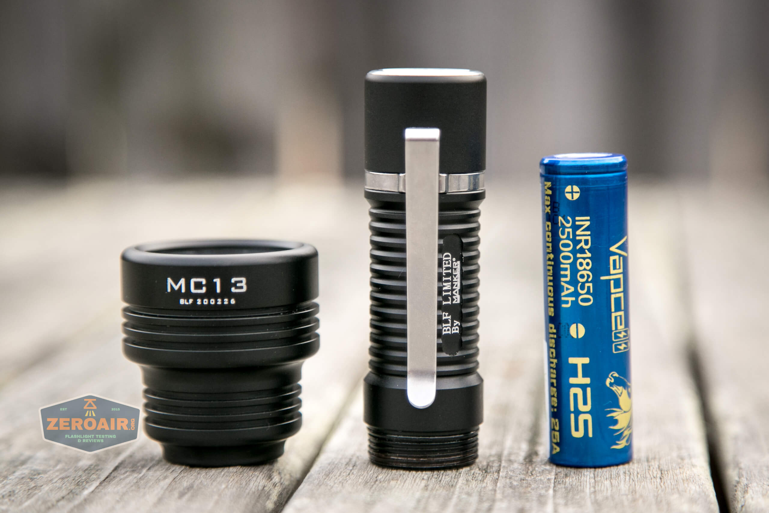 Manker MC13 thrower flashlight 18650 with cell
