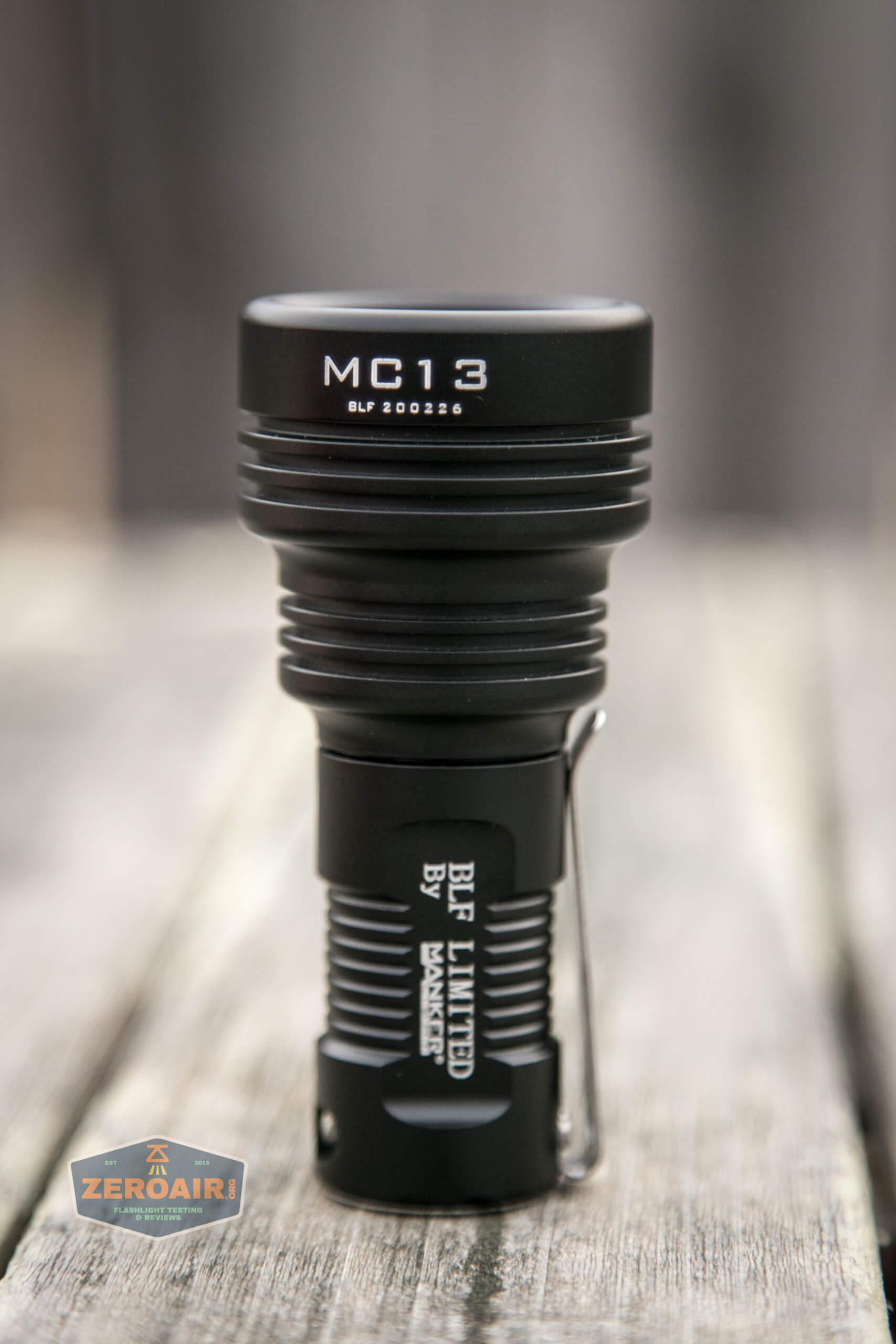 Manker MC13 thrower flashlight 18350 man four photos