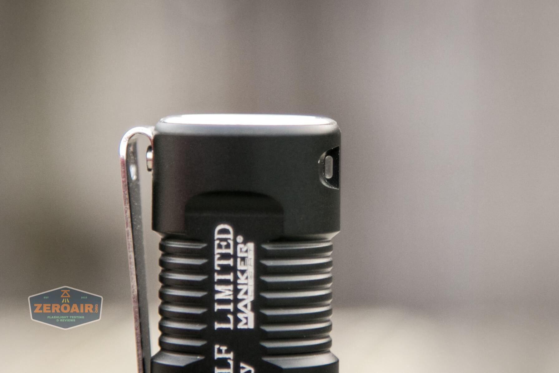 Manker MC13 thrower flashlight 18350 lanyard hole