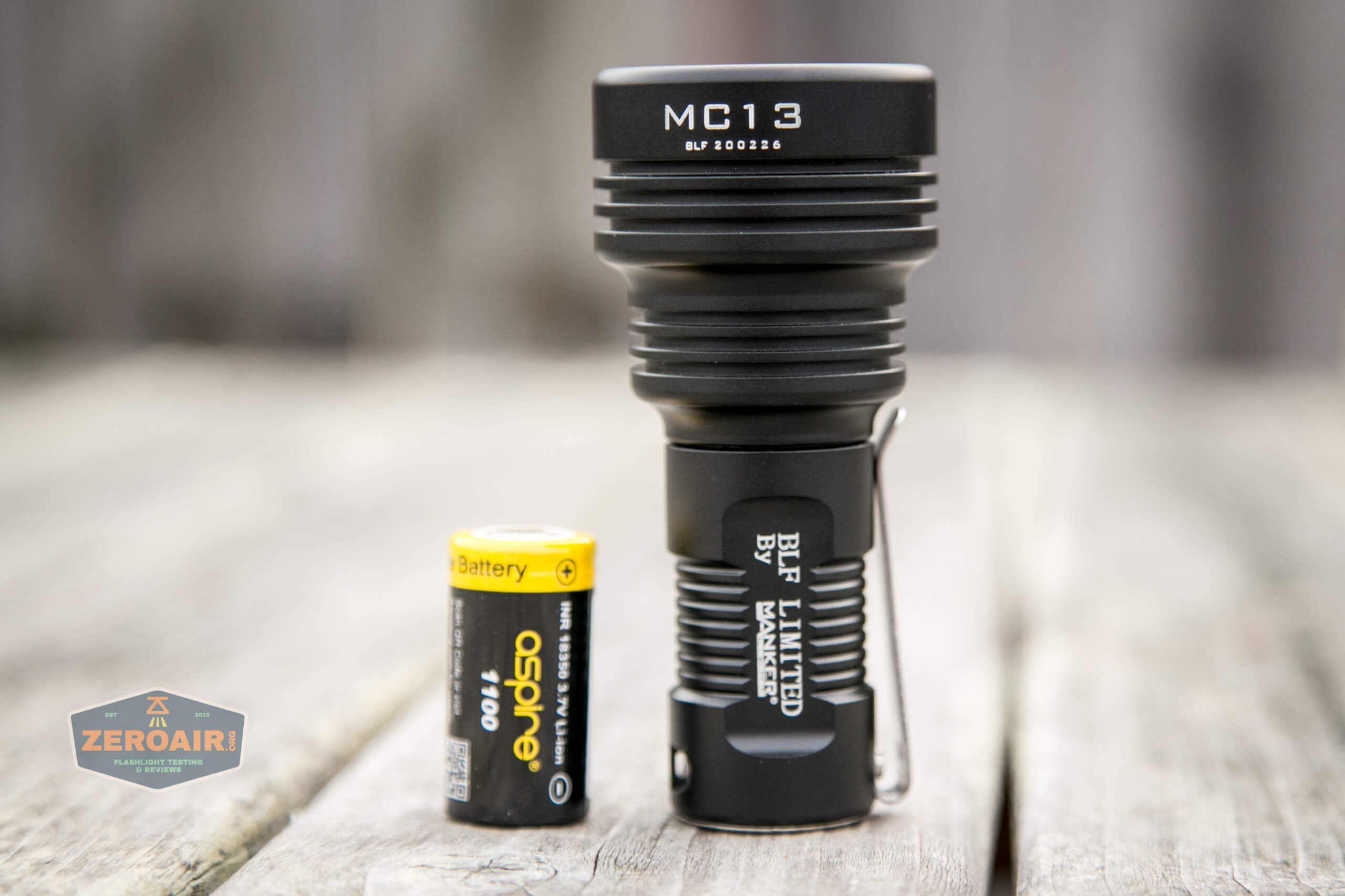 Manker MC13 thrower flashlight 18350 body with cell
