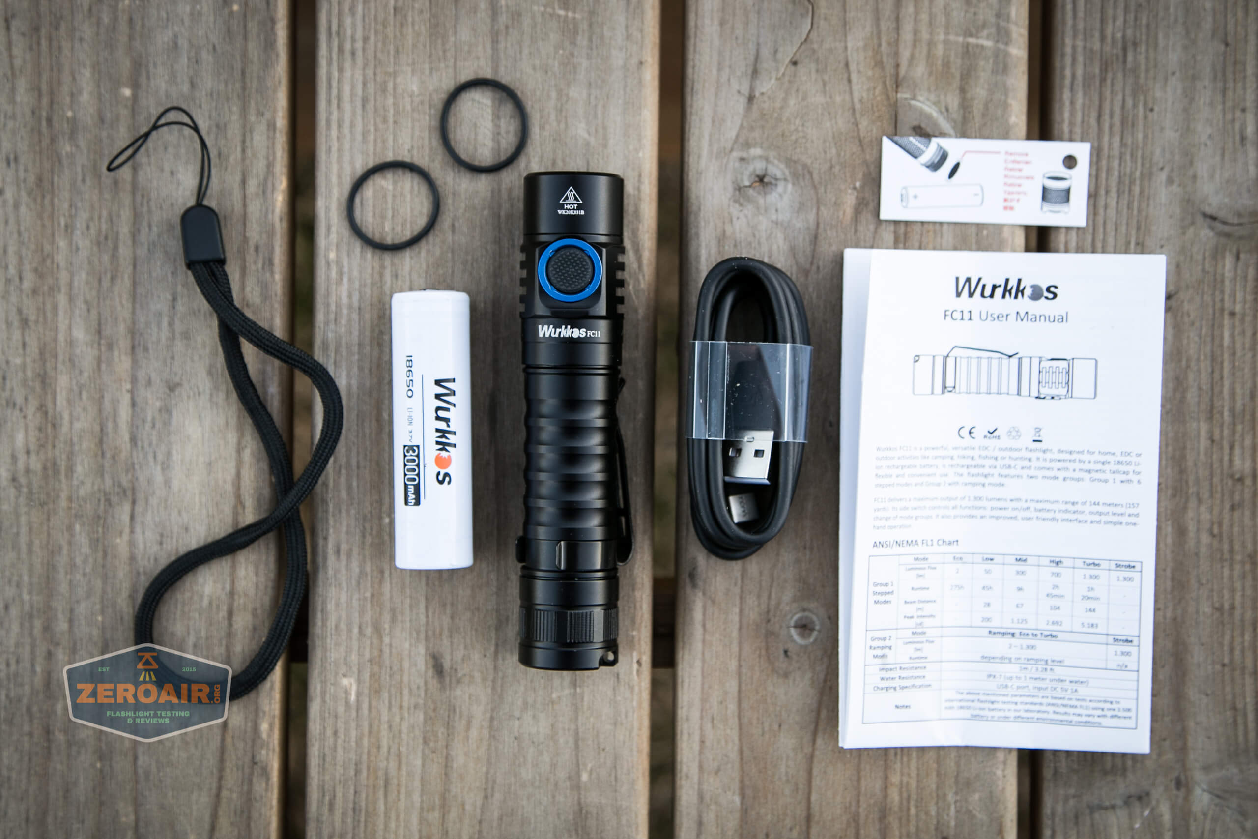 wurkkos fc11 flashlight what's included