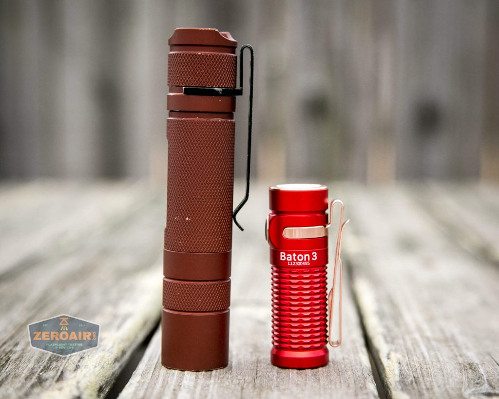 olight baton 3 premium beside convoy s2+