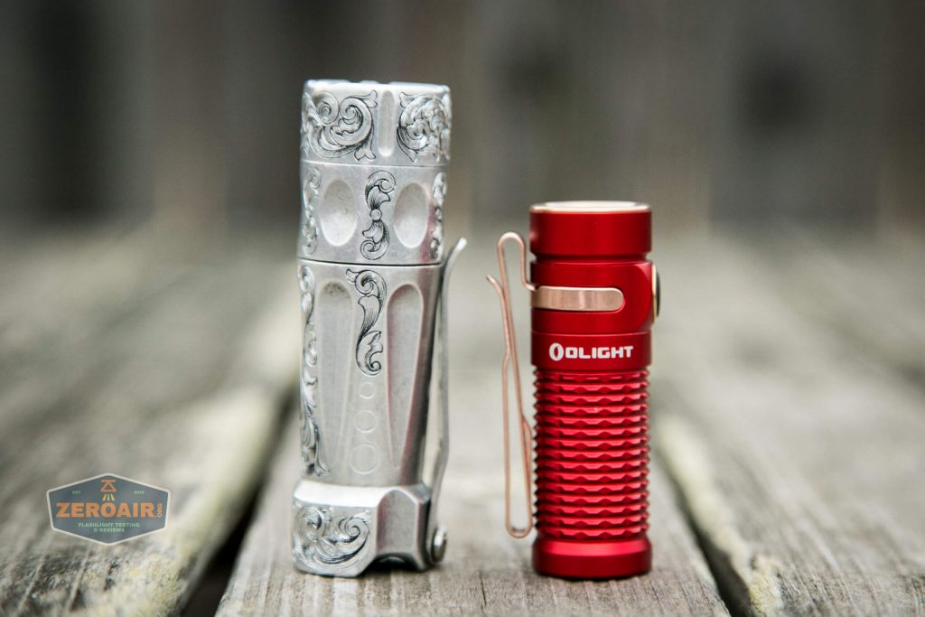 olight baton 3 premium beside torchlab boss 35