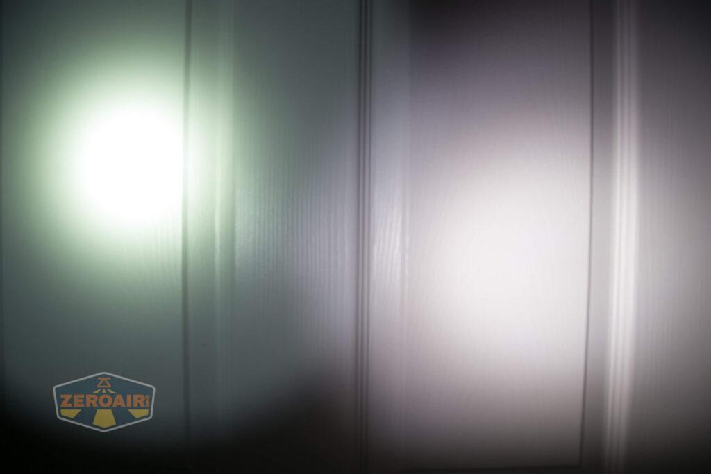 beamshot comparison to 291b against door