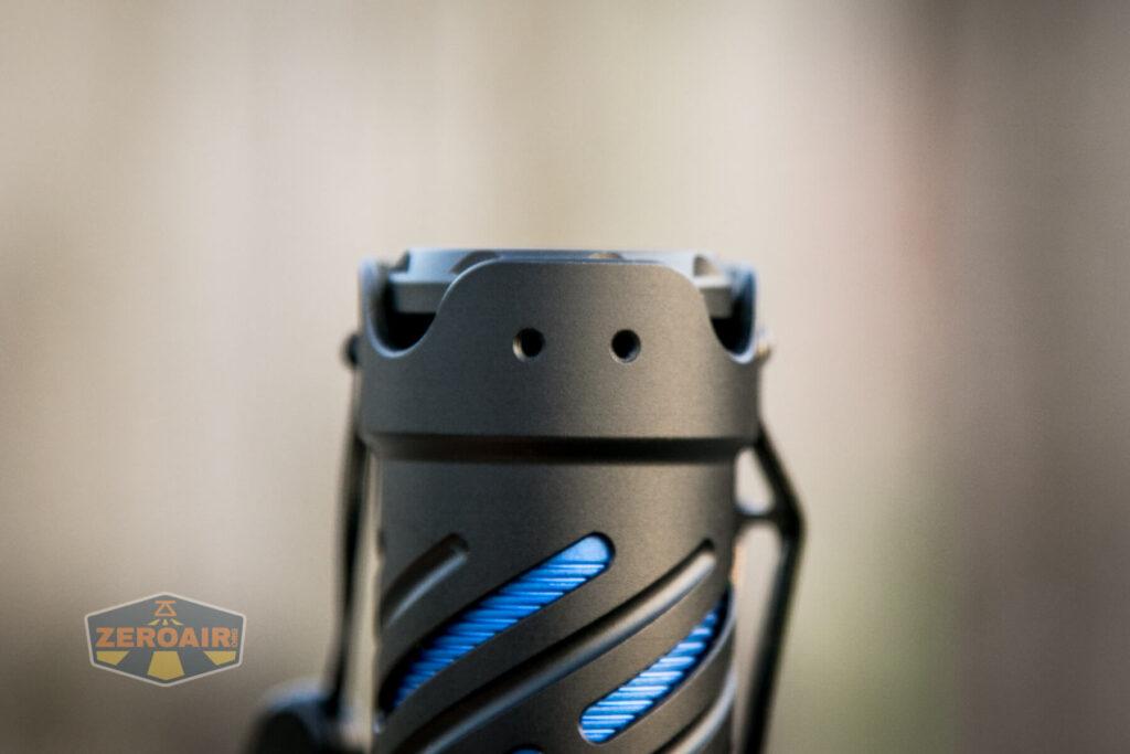 pocket clip screw holes