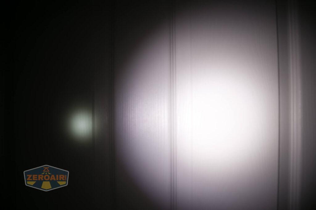 beamshots against door compared to nichia 219b