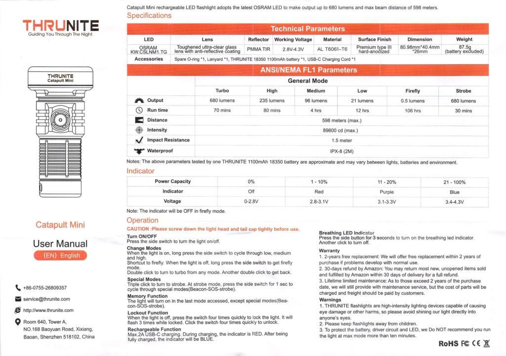 Thrunite Catapult Mini manual