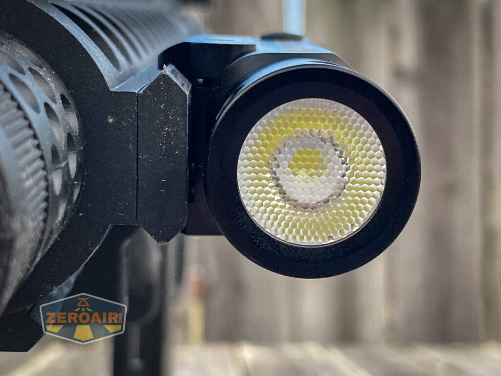 Thrunite TW10 Flashlight mounted on crosman dpms sbr bb