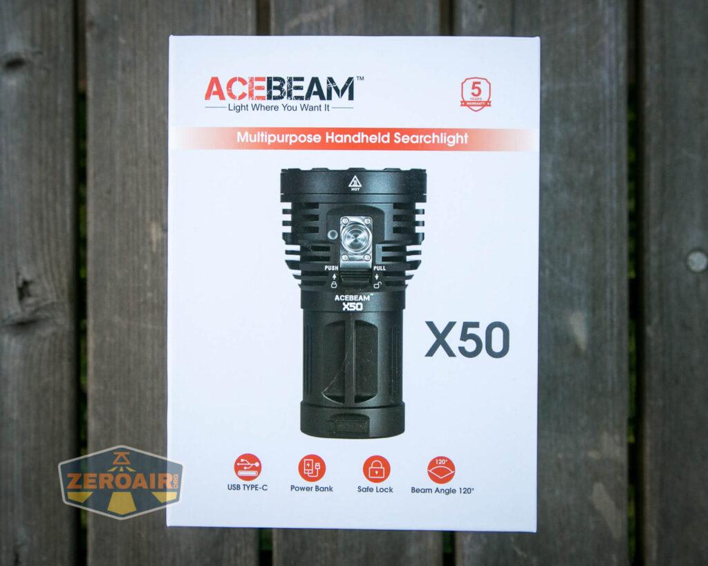 Acebeam X50 Searchlight box