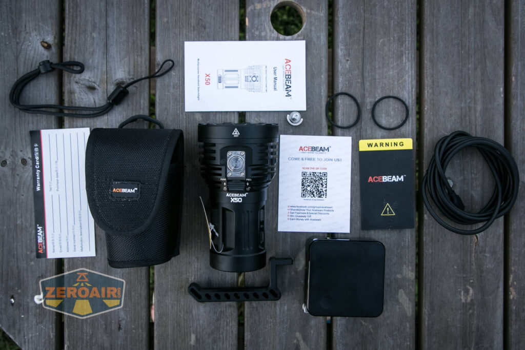 Acebeam X50 Searchlight what's included