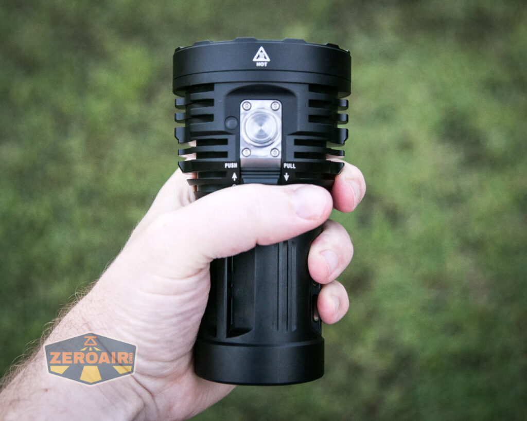 Acebeam X50 Searchlight in hand