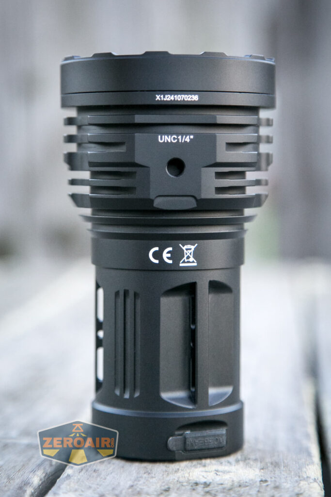 Acebeam X50 Searchlight tailstanding showing all sides