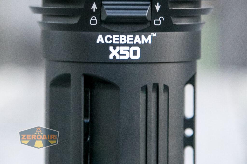 Acebeam X50 Searchlight top-down views