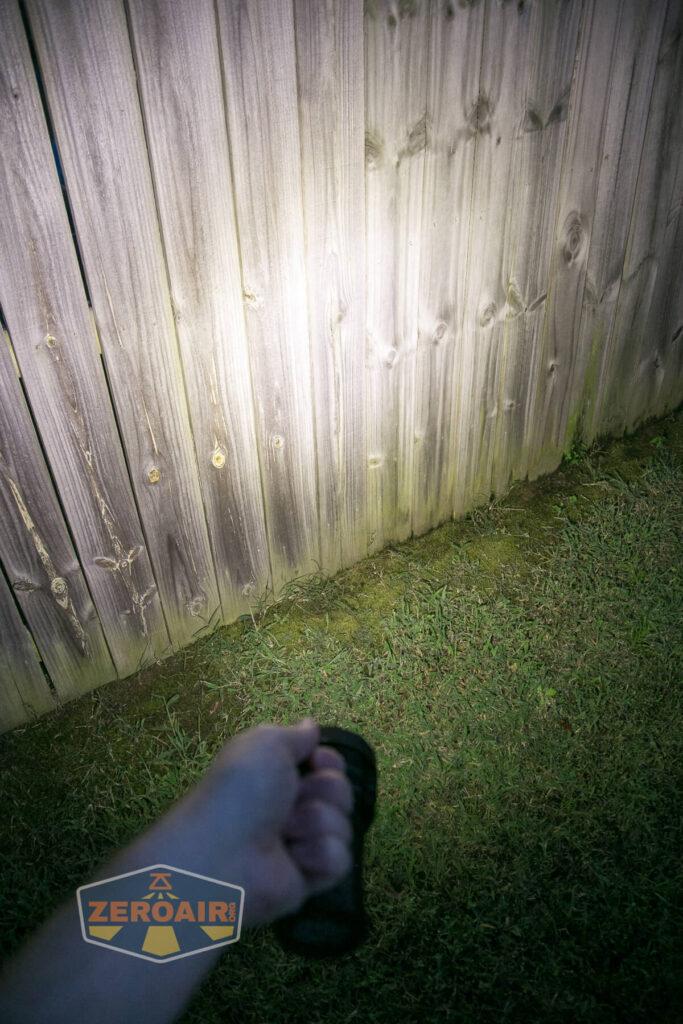 beam photo on fence
