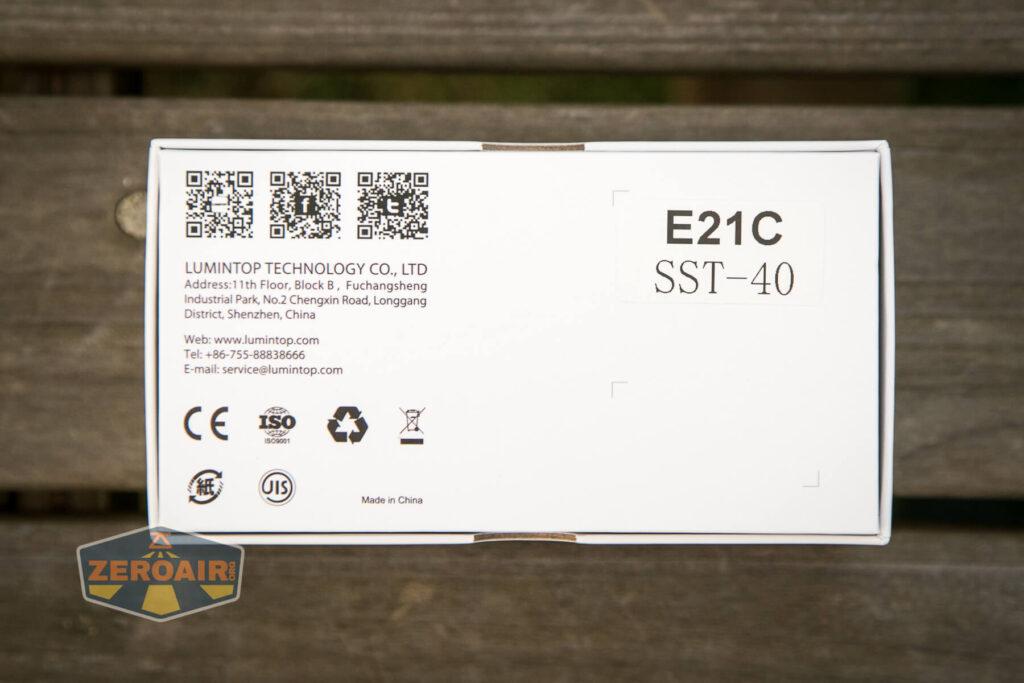 Lumintop E21C Flashlight box