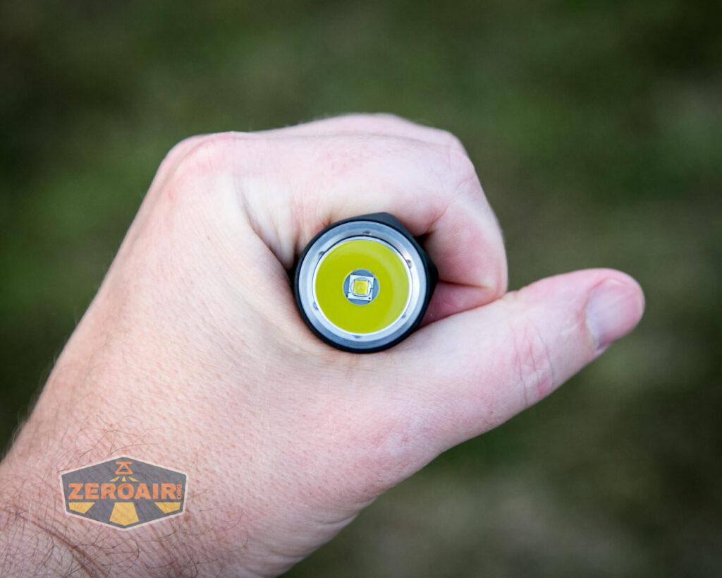 Lumintop E21C Flashlight in hand