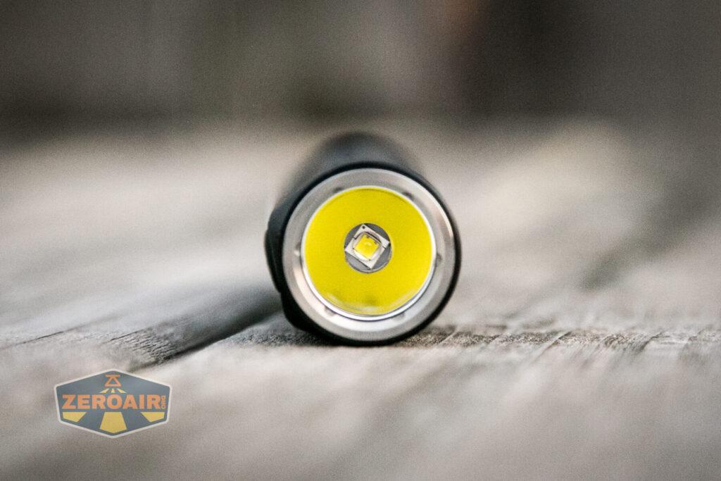 Lumintop E21C Flashlight front emitter