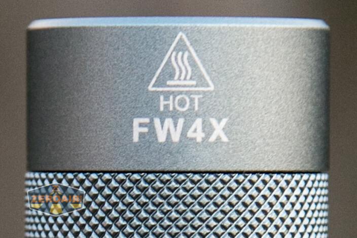 Lumintop FW4X Flashlight top-down views