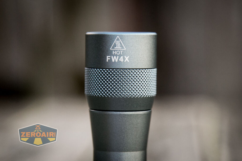 Lumintop FW4X Variable CCT Flashlight head knurling