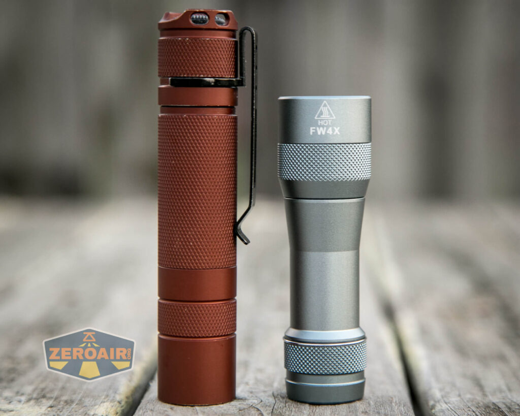 Lumintop FW4X Flashlight compared to convoy s2+
