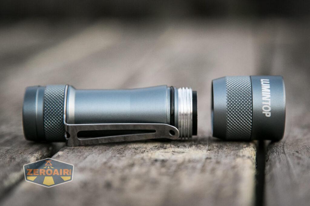 Lumintop FW4X Variable CCT Flashlight head threads