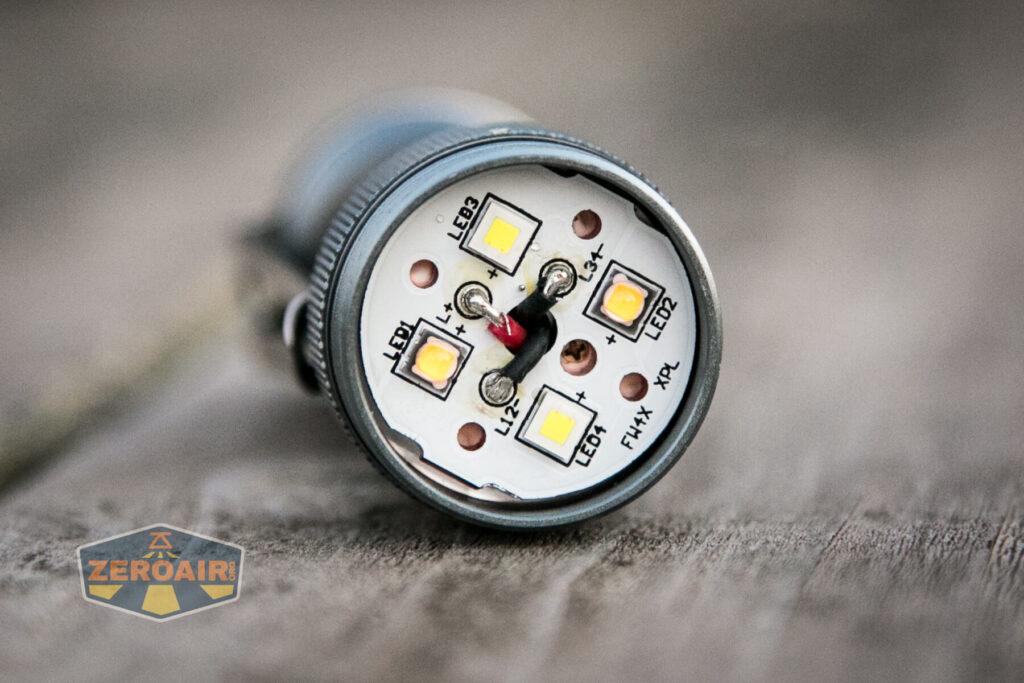 Lumintop FW4X Variable CCT Flashlight emitters