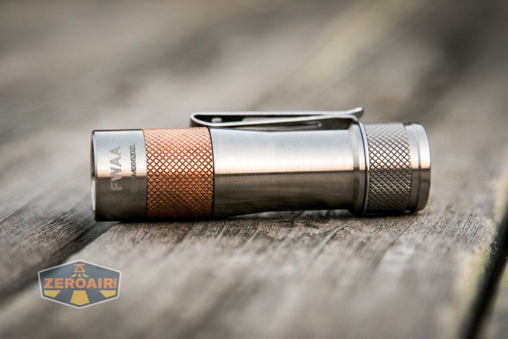 Lumintop FWAA TiCU 14500 flashlight feature photo