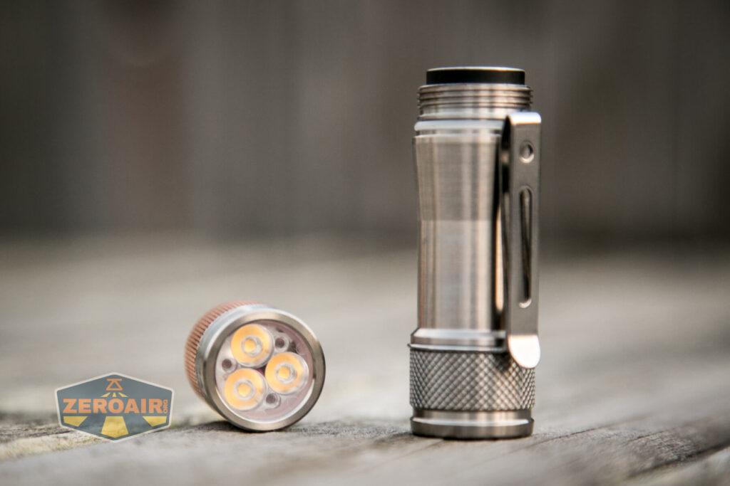 Lumintop FWAA TiCU 14500 flashlight tube