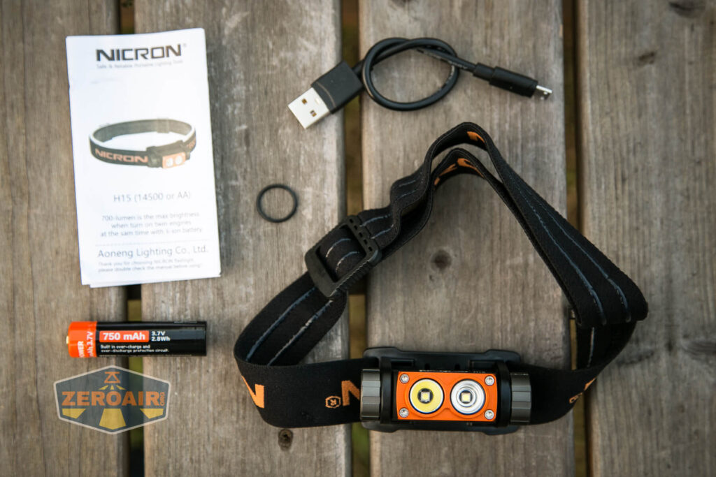 Nicron H15 Headlamp what's included