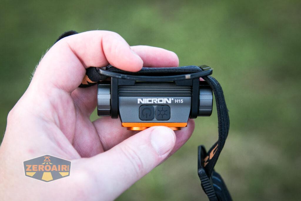 Nicron H15 Headlamp in hand