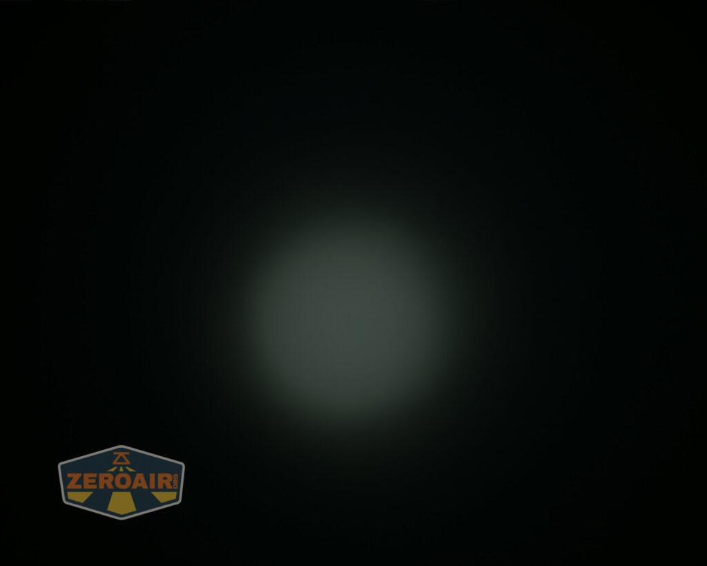 Nicron H15 Headlamp beamshots on ceiling