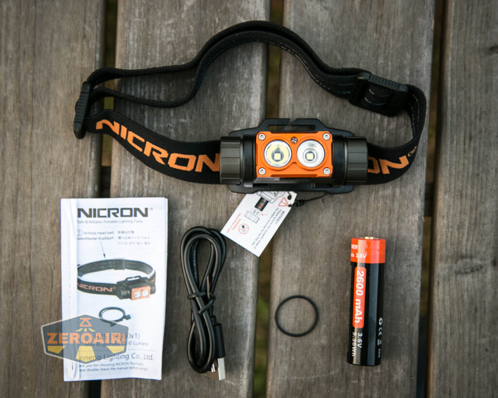 Nicron H25 Headlamp what's included