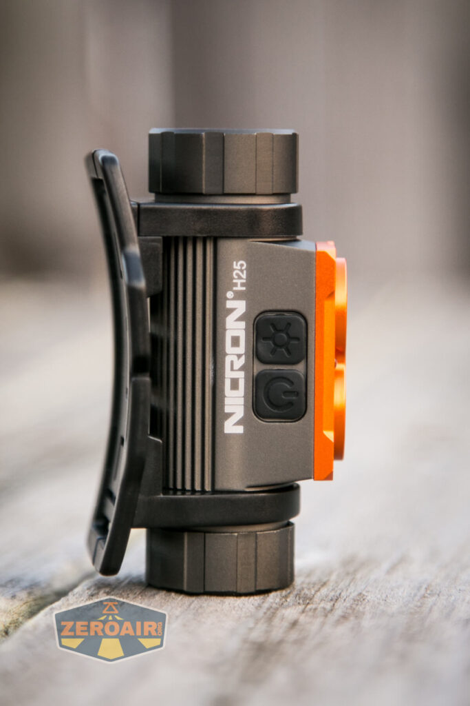 Nicron H25 Headlamp standing, showing all sides