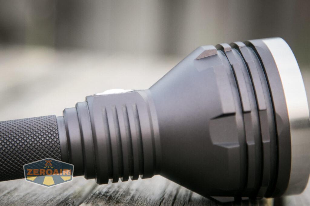 Noctigon K1 21700 Flashlight indicating e-switch