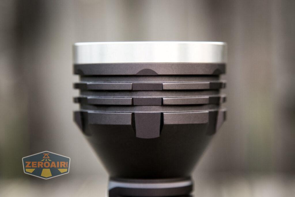 Noctigon K1 21700 Flashlight head cooling fins