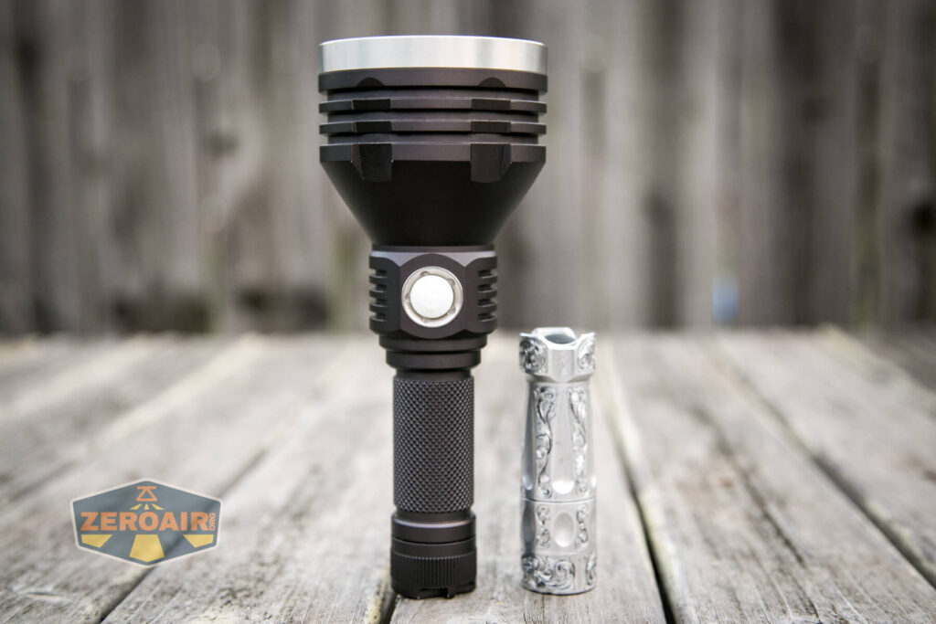 Noctigon K1 21700 Flashlight beside torchlab boss 35