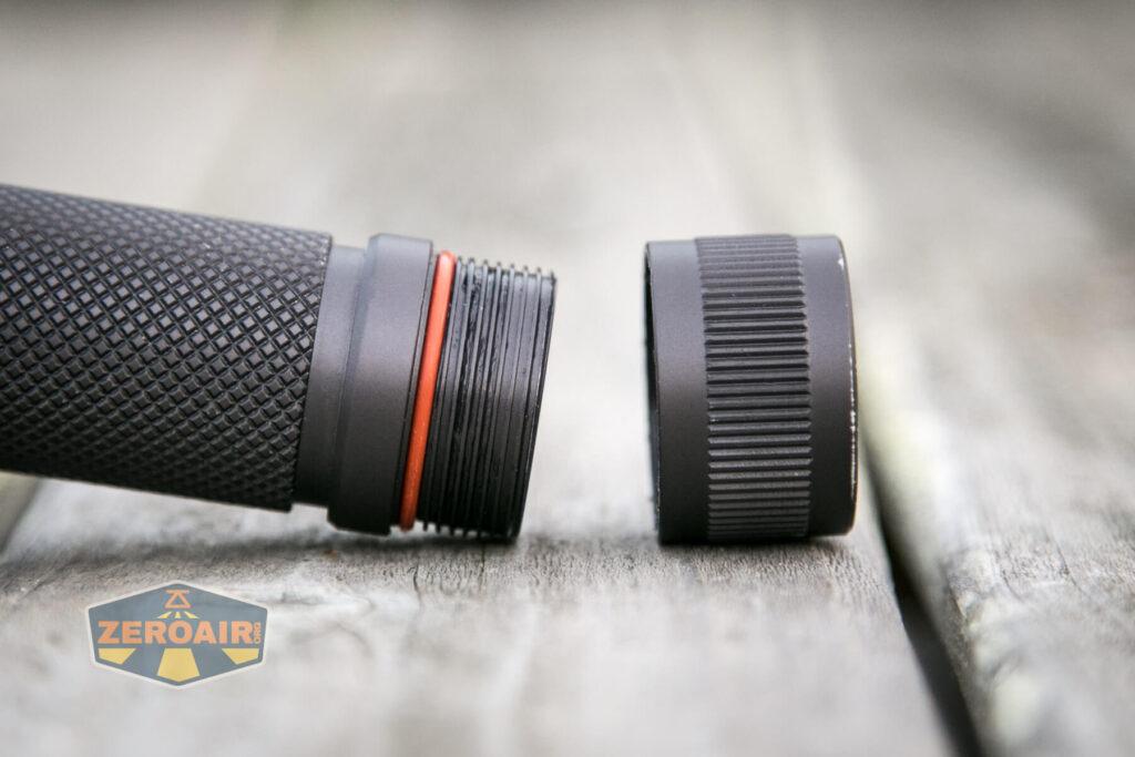 Noctigon K1 21700 Flashlight tailcap threads